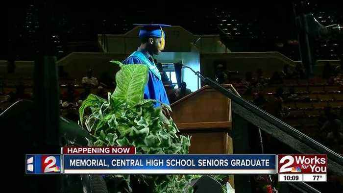 Memorial, Central High School seniors graduate Thursday