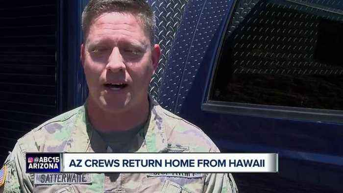 News video: Arizona crews return home from Hawaii volcano eruption