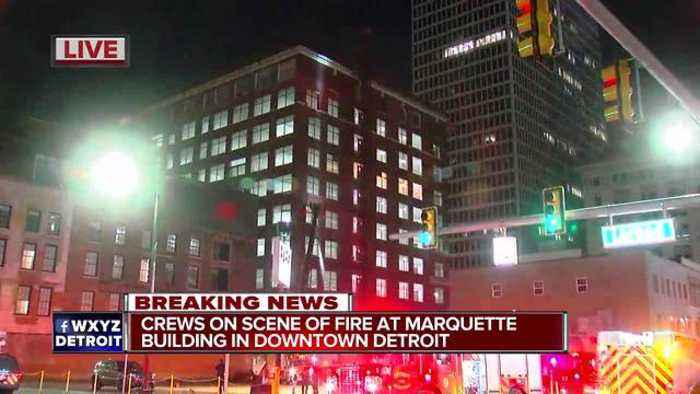 News video: Crews battle fire at downtown Detroit building