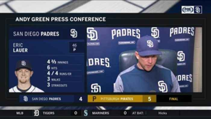 News video: Andy Green talks about Eric Lauer, his club's defense in loss