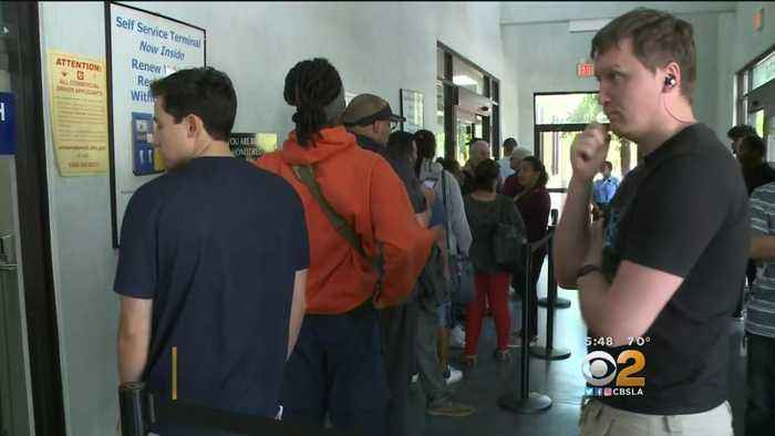 News video: DMV Blames Unusually Long Lines On Demand For New I.D.