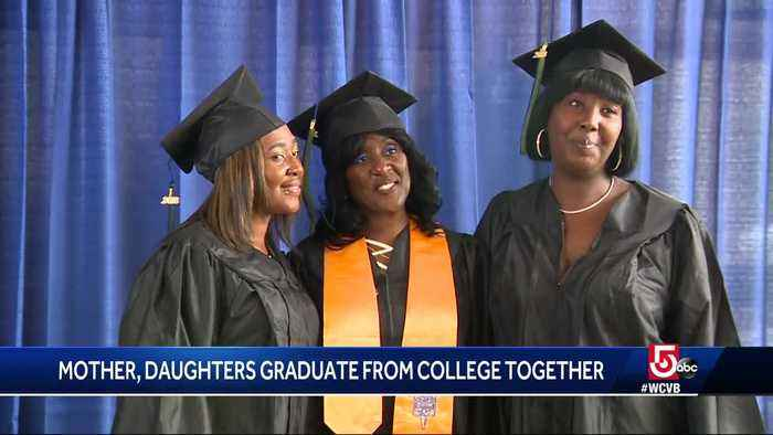 Mother, daughters graduate from college together