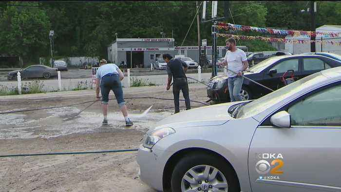 News video: Route 51 Car Dealerships Face Long Clean-Up After Flooding