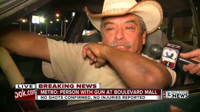 News video: Man's daughter was working at Boulevard Mall when person with gun spotted