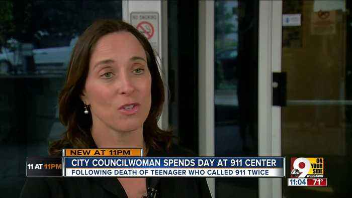News video: Councilwoman spends day at 911 center
