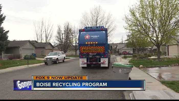 News video: Boise adapting to new recycling program