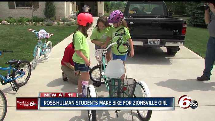 News video: Rose-Hulman mechanical engineering students design bicycle for girl with cerebral palsy