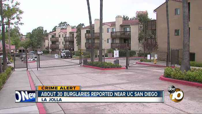 About 30 burglaries reported near UC San Diego