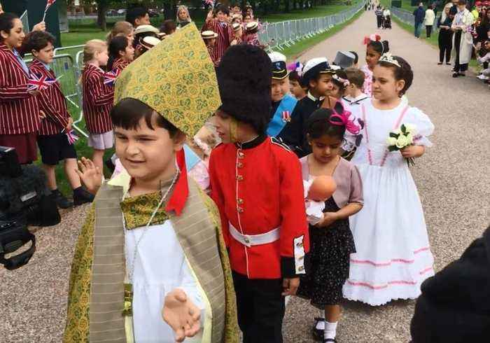 Young English Students Conduct Their Very Own Royal Wedding