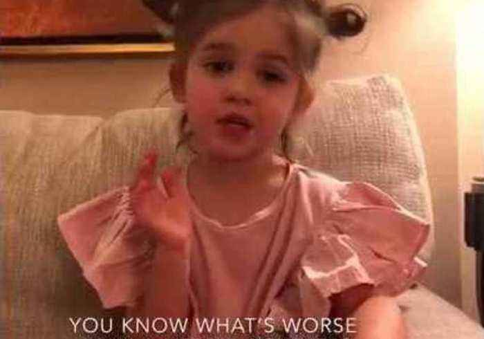 News video: Extremely Cute Toddler Has Strong Views on One-Upper 'Friend'