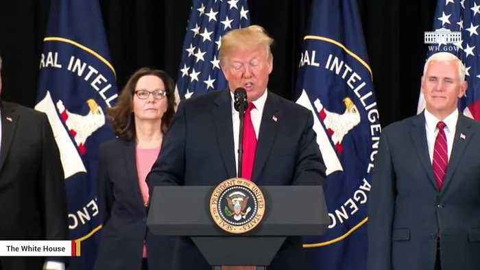 Trump Delivers Remarks At Gina Haspel's Swearing-In Ceremony