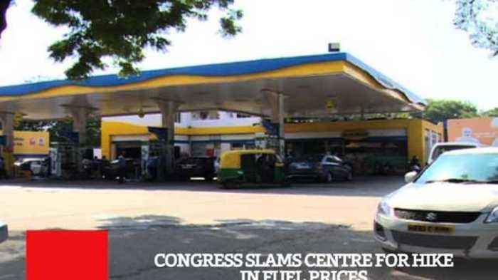 Congress Slams Centre For Hike In Fuel Prices