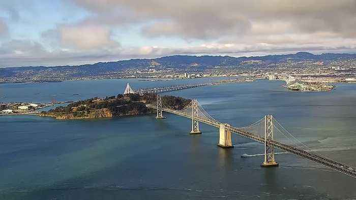 News video: Timelapse: Salesforce Tower Camera View Of Bay Bridge, East Bay