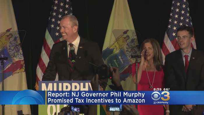 News video: Gov. Phil Murphy: Tax Credits Are 'Most Important Pledge' To Amazon