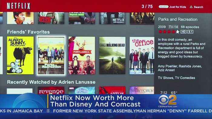 Streaming Giant Netflix Now Worth More Than Disney, Comcast