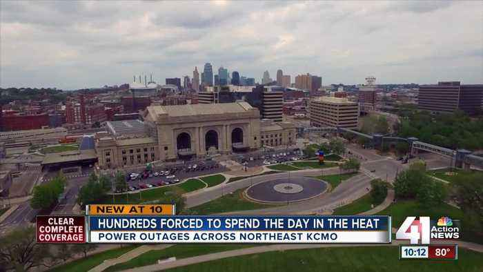 News video: Hundreds without power amid scorching-temps