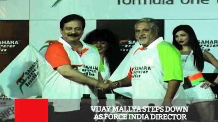 News video: Vijay Mallya Steps Down As Force India Director