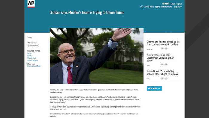 Giuliani Reportedly Said Mueller's Team Trying 'Very Hard To Frame' Trump