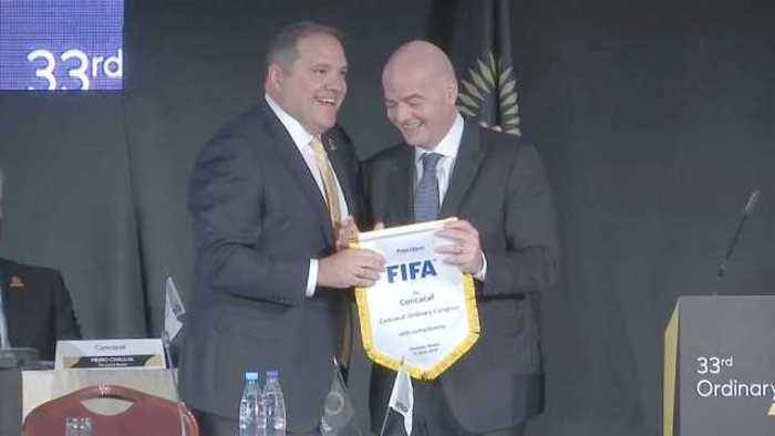 News video: CONCACAF chief confident of World Cup 2026 bid against Morocco