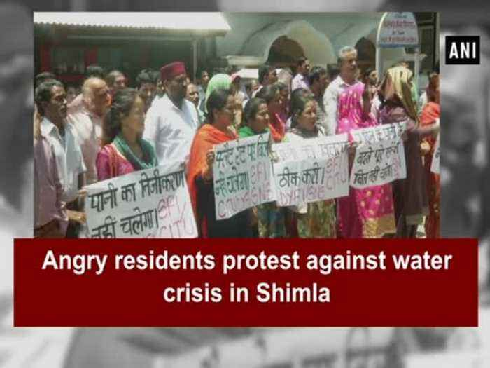 News video: Angry residents protest against water crisis in Shimla