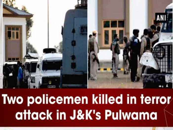 Two policemen killed in terror attack in JandK's Pulwama