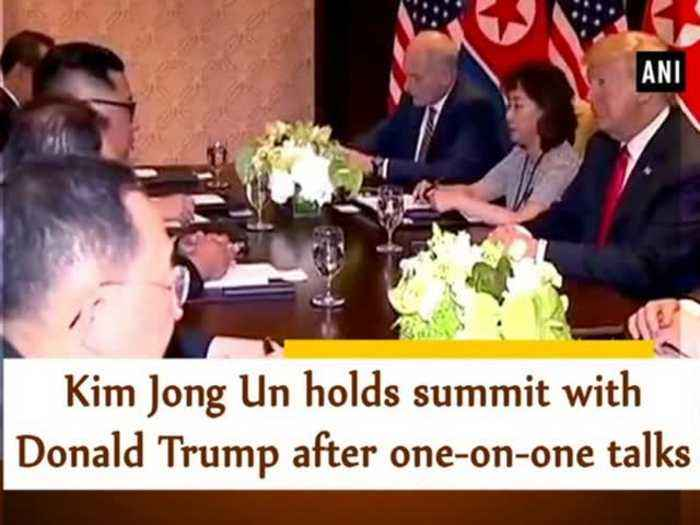 News video: Kim Jong Un holds summit with Donald Trump after one-on-one meeting