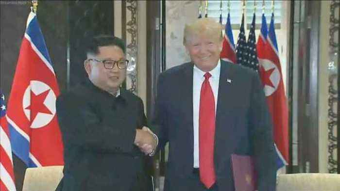 "News video: Trump, Kim sign ""very important"" document"