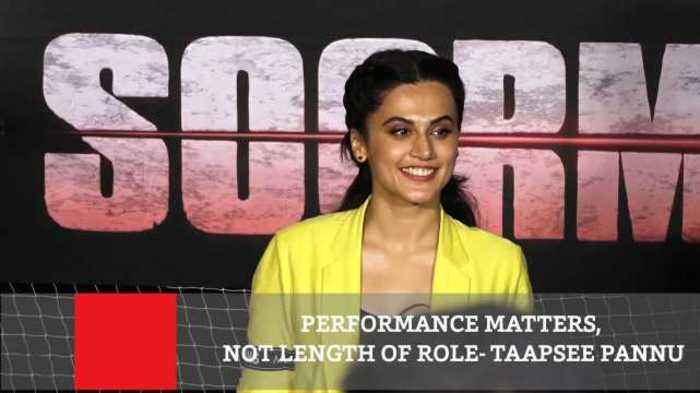 News video: Performance Matters, Not Length Of Role : Taapsee Pannu