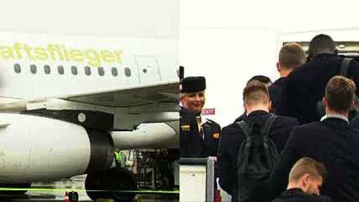 News video: German soccer team departs for Moscow and the FIFA World Cup