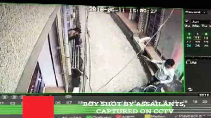News video: Boy Shot By Assailants, Captured On CCTV