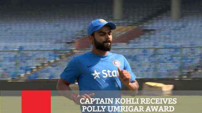 News video: Captain Kohli Receives Polly Umrigar Award