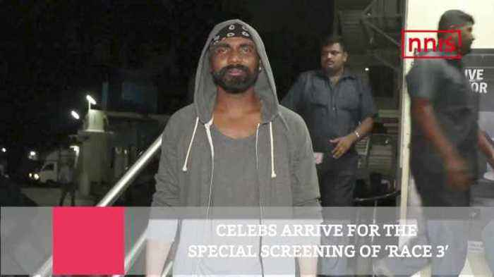 News video: Celebs Arrive For The Special Screening Of 'Race 3'