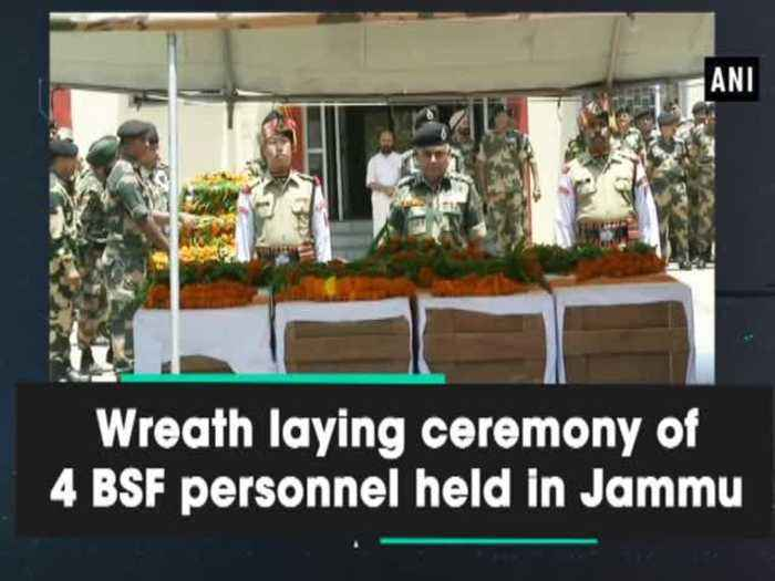 Wreath laying ceremony of 4 BSF personnel held in Jammu
