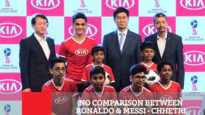 No Comparison Between Ronaldo & Messi : Chhetri