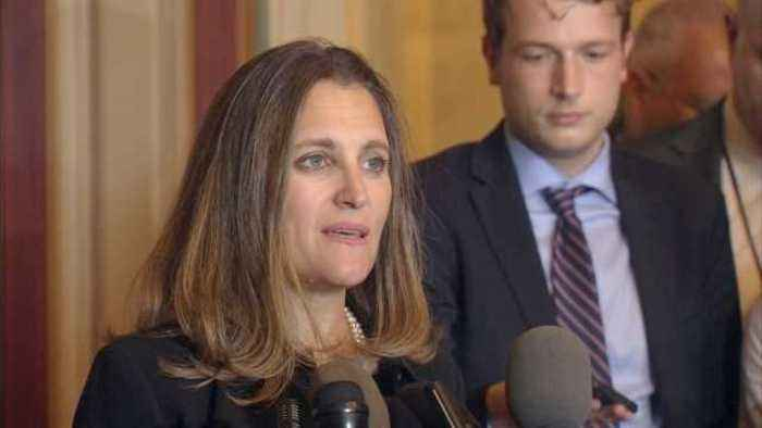 "U.S. trade actions ""illegal"": Canada's Freeland"