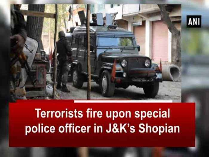 News video: Terrorists fire upon special police officer in J&K's Shopian
