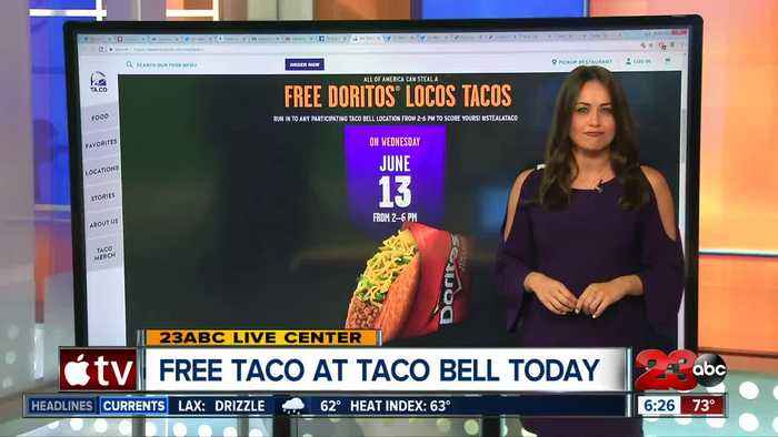 News video: Free taco at Taco Bell today