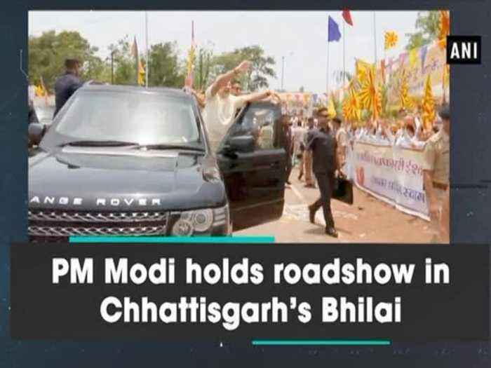 News video: PM Modi holds roadshow in Chhattisgarh's Bhilai