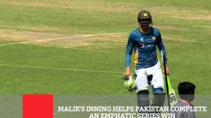 News video: Malik's Inning Helps Pakistan Complete An Emphatic Series Win