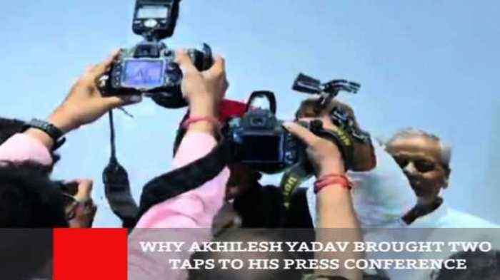 Why Akhilesh Yadav Brought Two Taps To His Press Conference