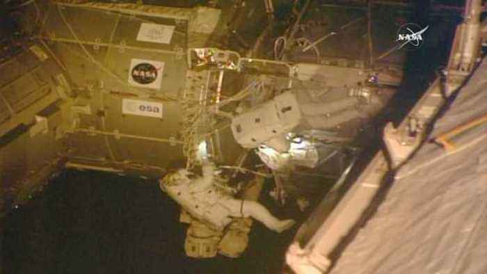 News video: Astronauts install HD cameras outside ISS