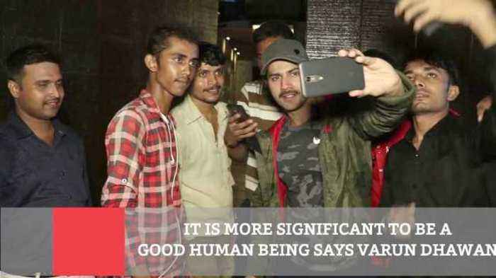 News video: It Is More Significant To Be A Good Human Being Says Varun Dhawan