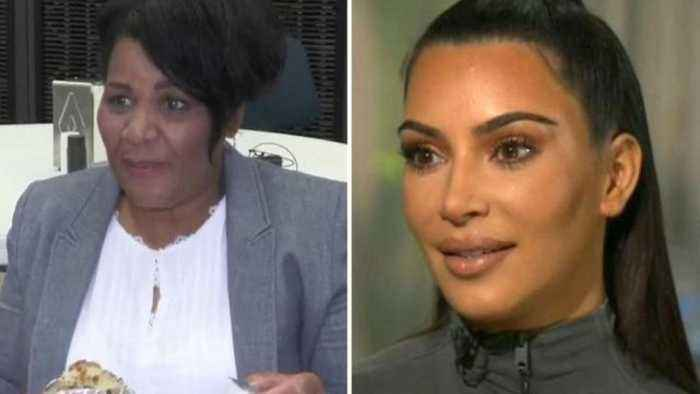 News video: Kim Kardashian Teaches Alice Marie Johnson How to Use Snapchat