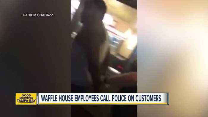 Video shows 2 black customers handcuffed at Florida Waffle House for disputing a $1.50 overcharge