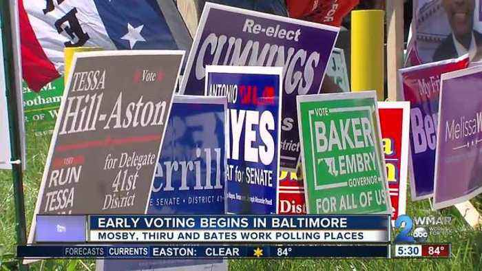 News video: Early voting begins in Baltimore