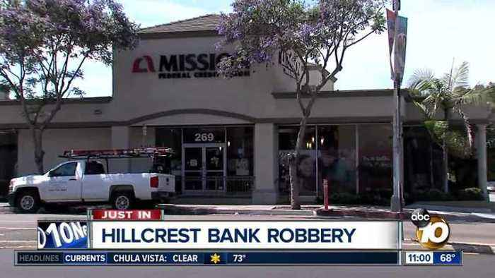 Bank robbed in Hillcrest