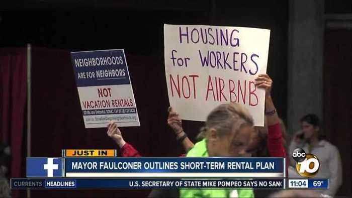 News video: Mayor Faulconer outlines short-term rental plan