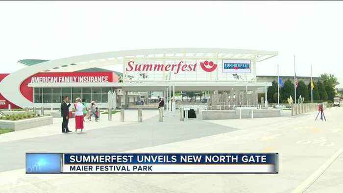 News video: Summerfest unveils new north gate and musical plaza