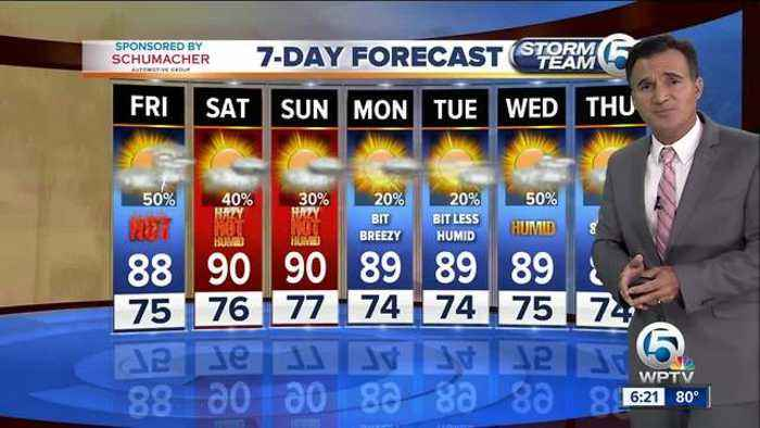 News video: Latest Weather Forecast 6 p.m. Thursday