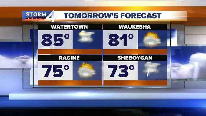 News video: Scattered thunderstorms and weekend heat